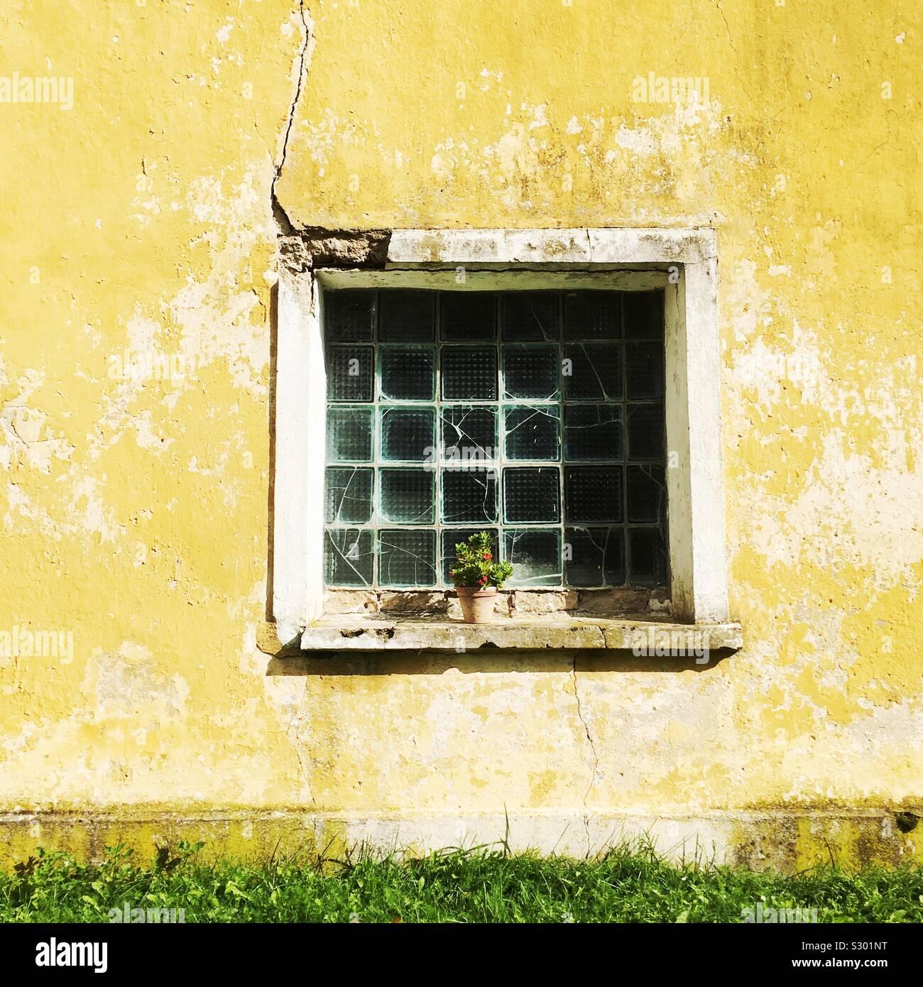 Estonian window Stock Photo