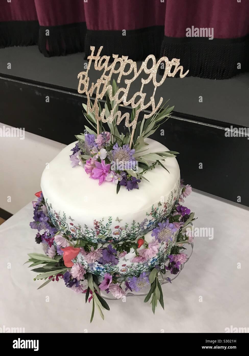 Awe Inspiring 90Th Birthday Cake Stock Photos 90Th Birthday Cake Stock Images Personalised Birthday Cards Paralily Jamesorg