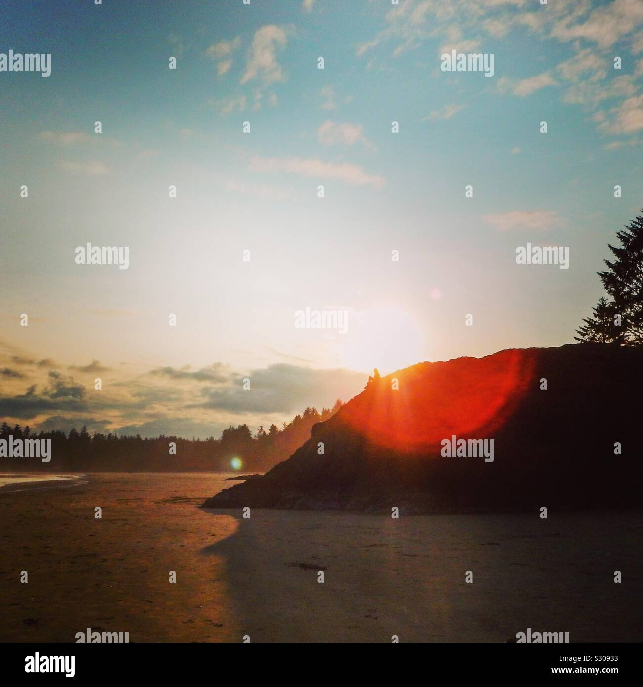 Long Beach, Tofino, British Columbia, Canada Stock Photo
