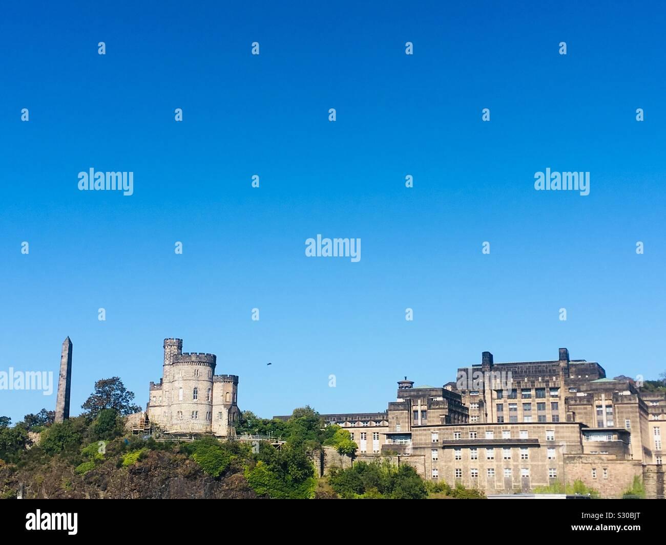 The political Martyrs Monument, Old Carlton Burial Ground, Edinburgh, Scotland Stock Photo