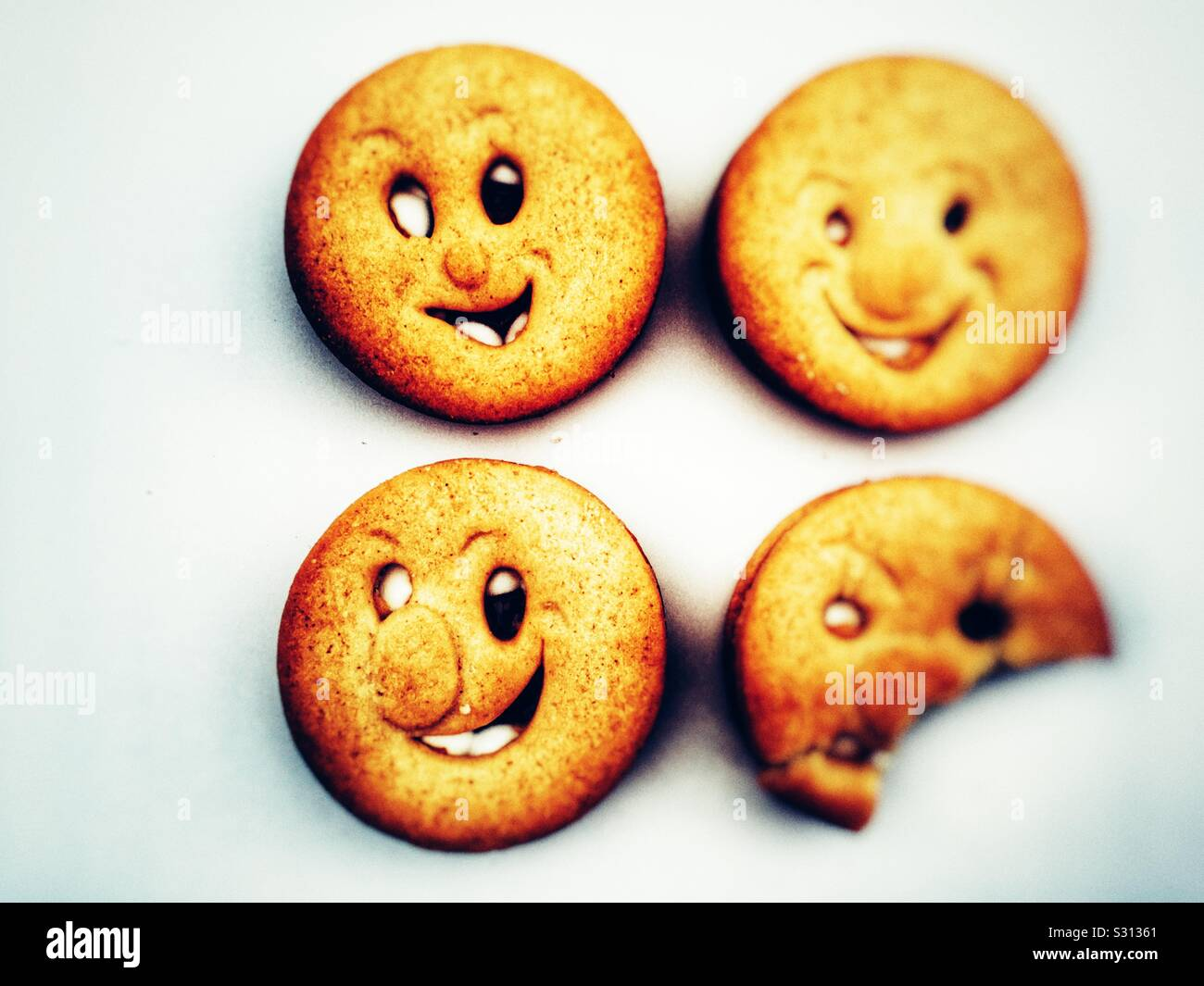 McVities Happy Faces biscuits Stock Photo