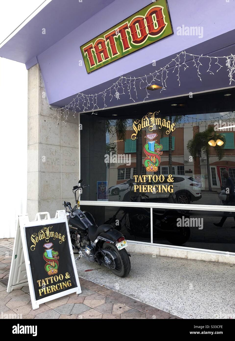 Tattoo Signage High Resolution Stock Photography And Images Alamy