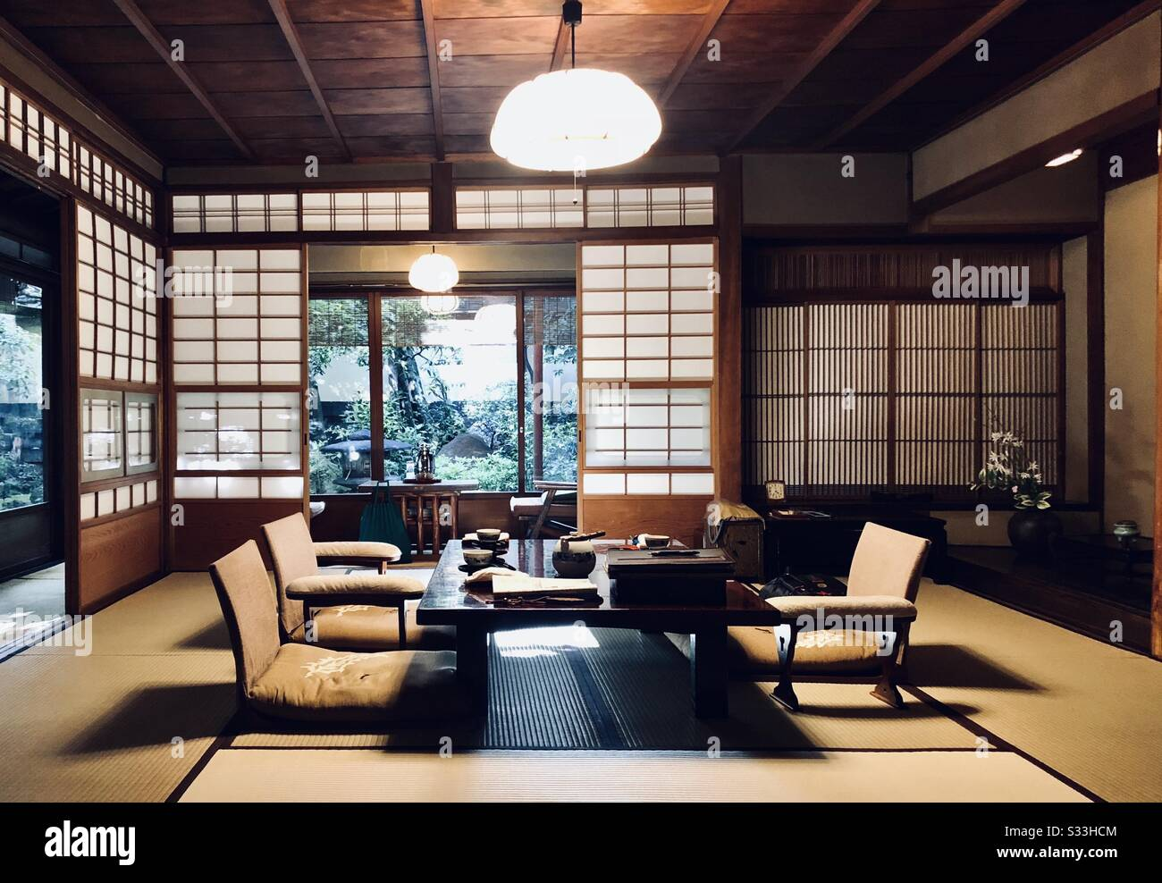 Japanese Style Room High Resolution Stock Photography And Images Alamy