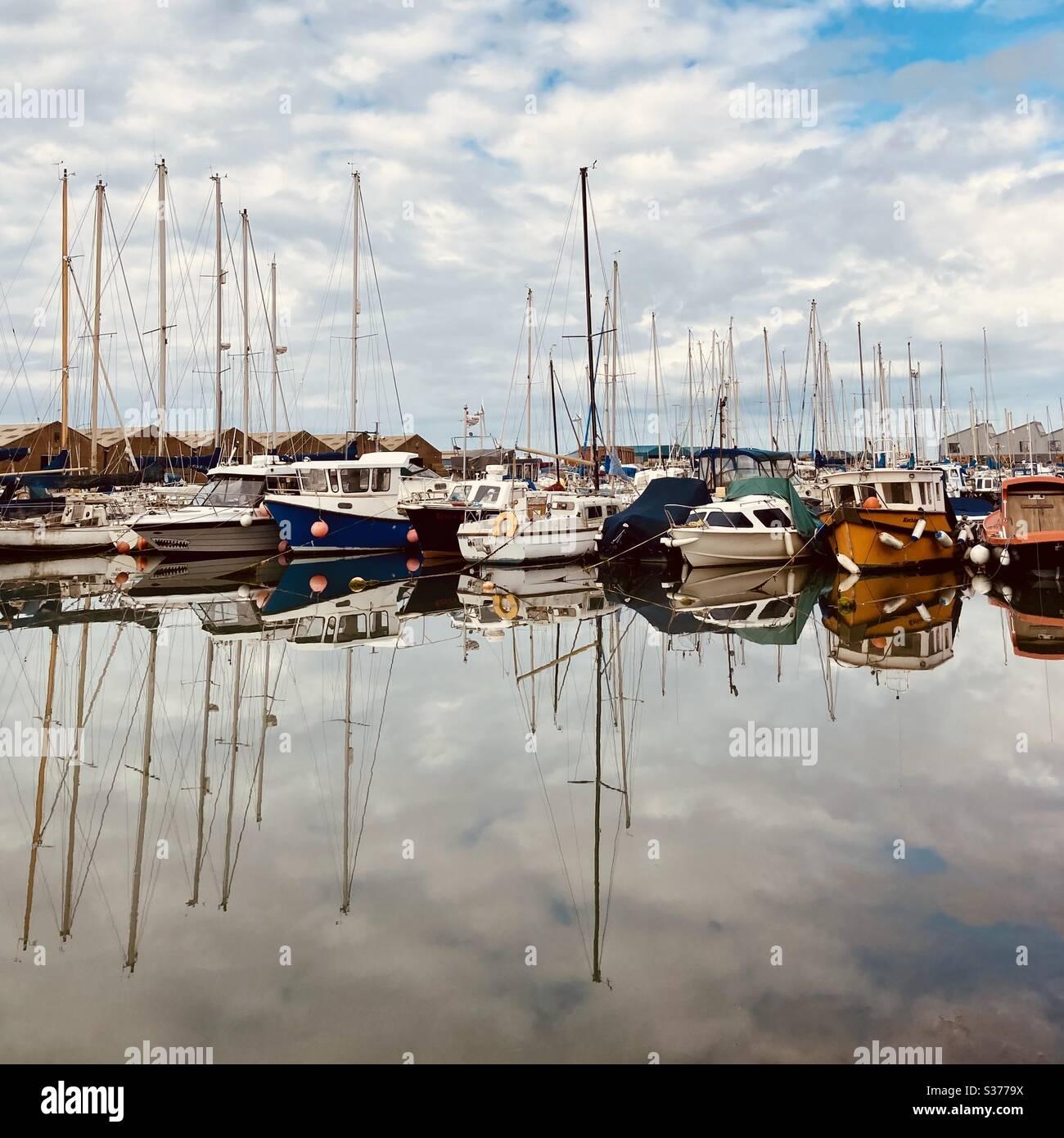 Shoreham Port, West Sussex marina Stock Photo