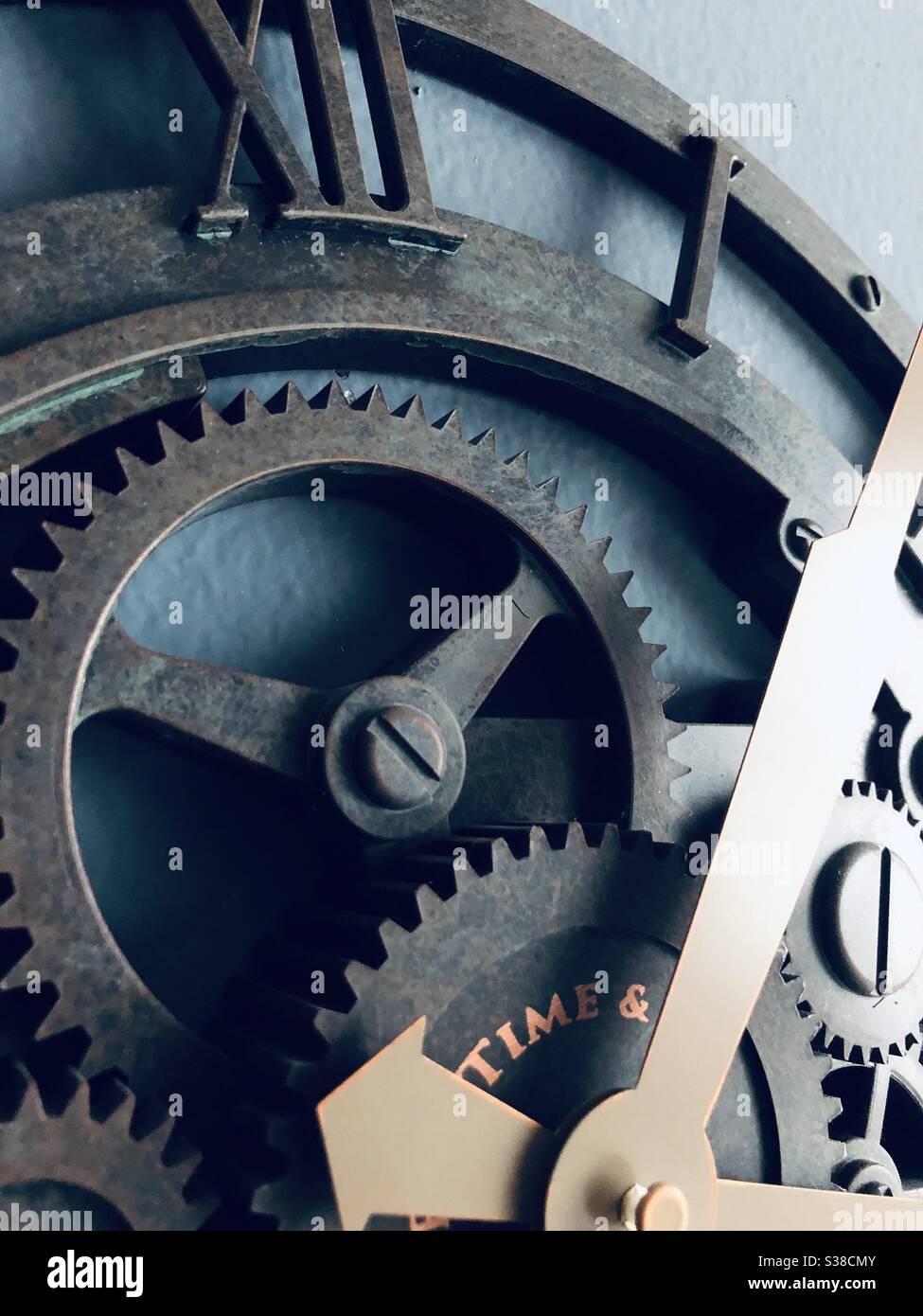 closeup clock Stock Photo