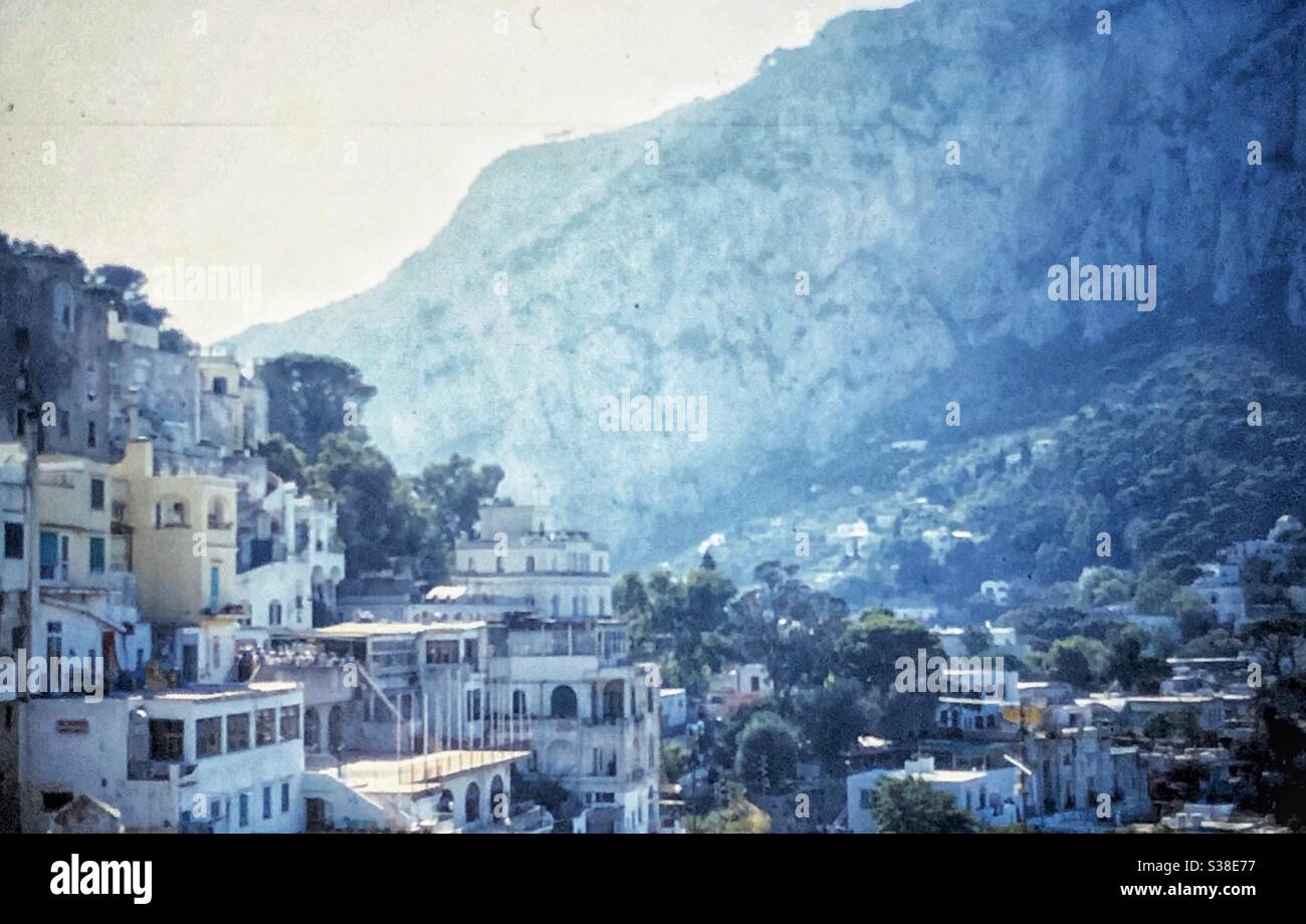 Vintage image of the town of Amalfi on the Amalfi coast in Italy. Stock Photo