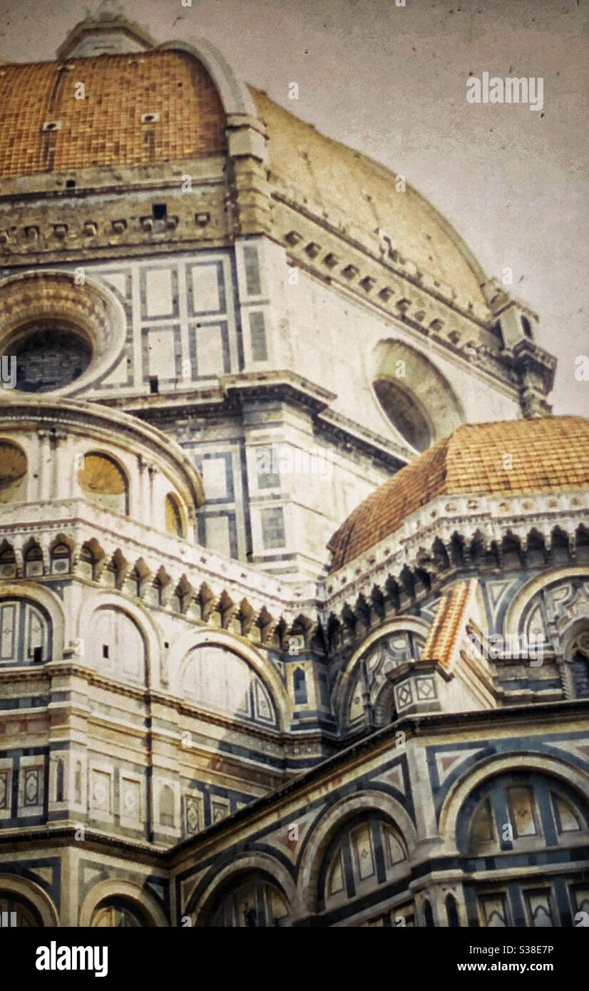 Vintage image of The Duomo in Florence, Italy. Stock Photo