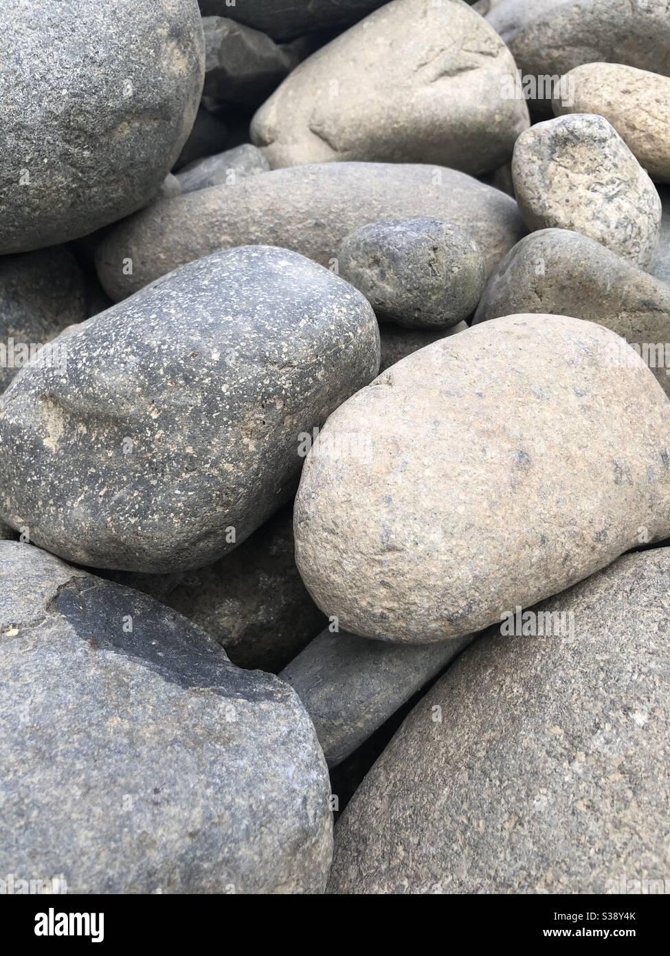 rocks at a beach Stock Photo
