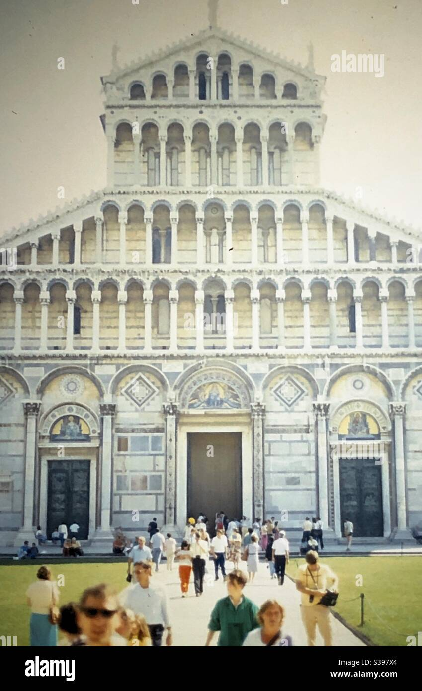 Vintage shot of the Cathedral of Pisa in Pisa, Italy. Stock Photo