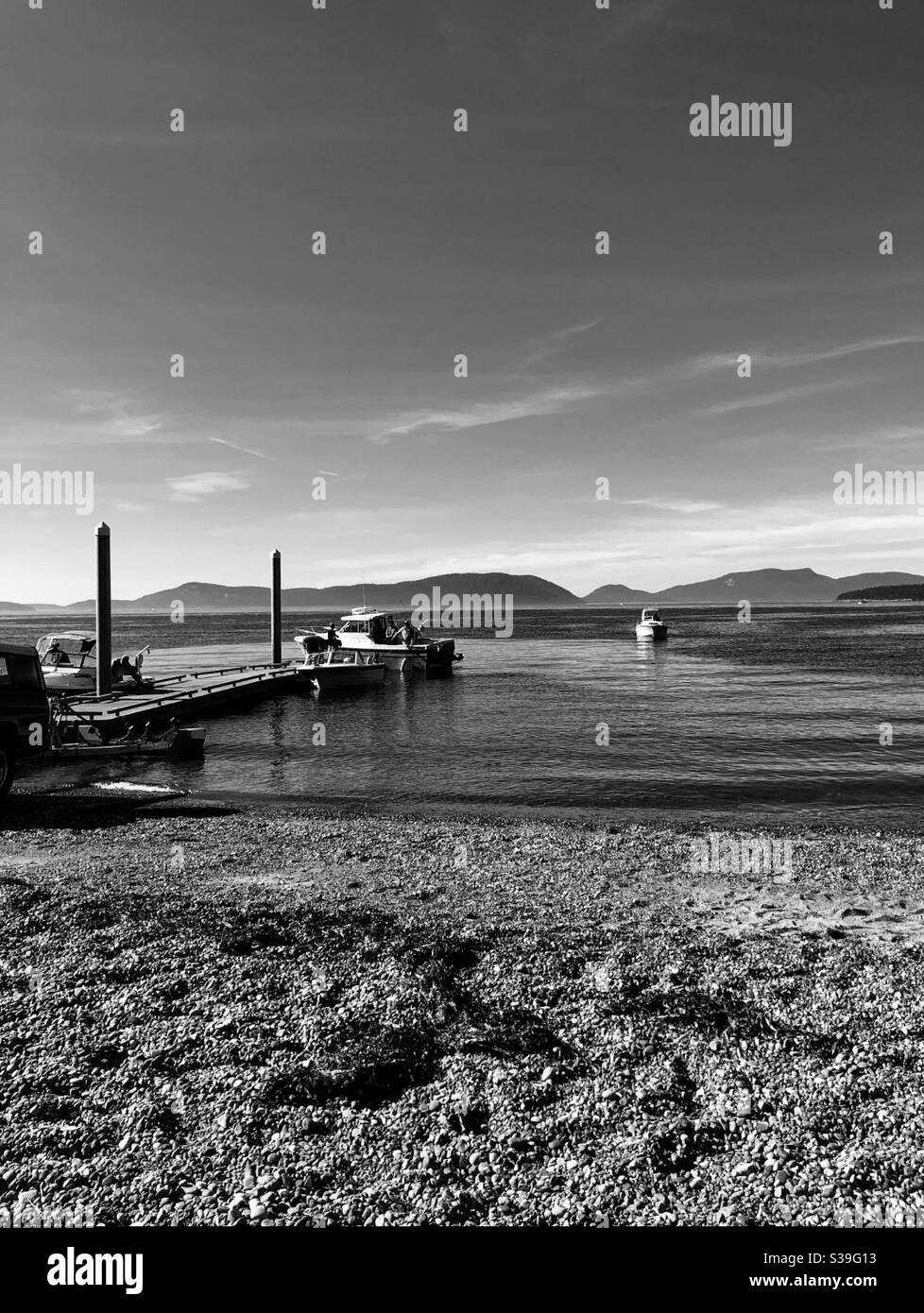 Boats at anacortes washington Stock Photo