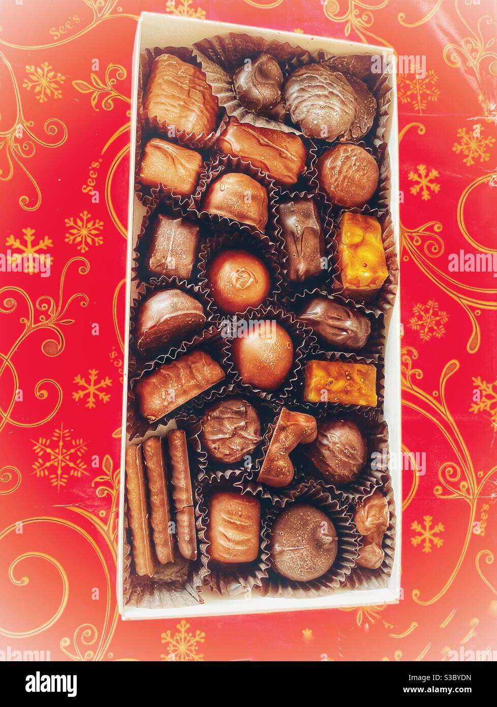 Melt In Your Mouth Assortment Of See S Classic Chocolate Candies Stock Photo Alamy