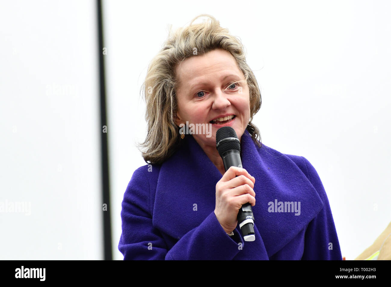 London, UK . 16th March 2019. Stand Up To Racism organize a march of a UN Anti-Racism Day Demonstration and march of  the horrific Islamophobic terrorist attack on a mosque in Christchurch, New Zealand, that has left 49 dead on 16 March 2019, London, UK. Credit: Picture Capital/Alamy Live News - Stock Image