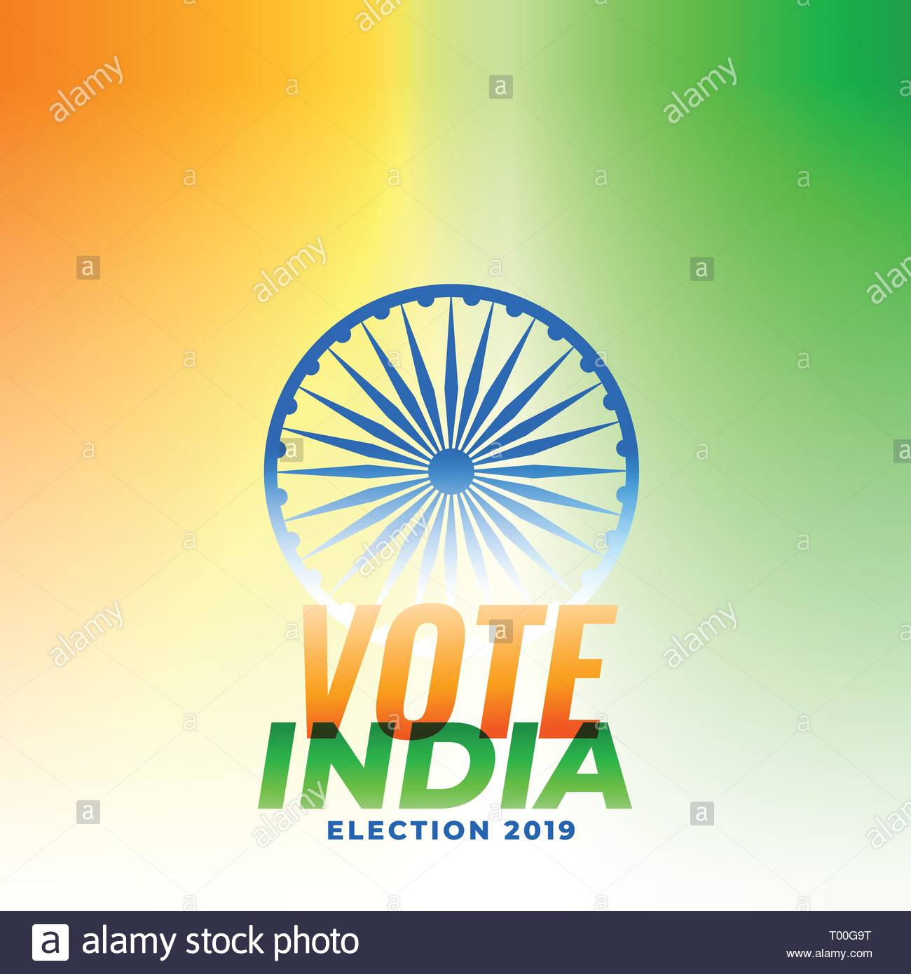 Indian Election Banner Design Illustration Stock Vector Art