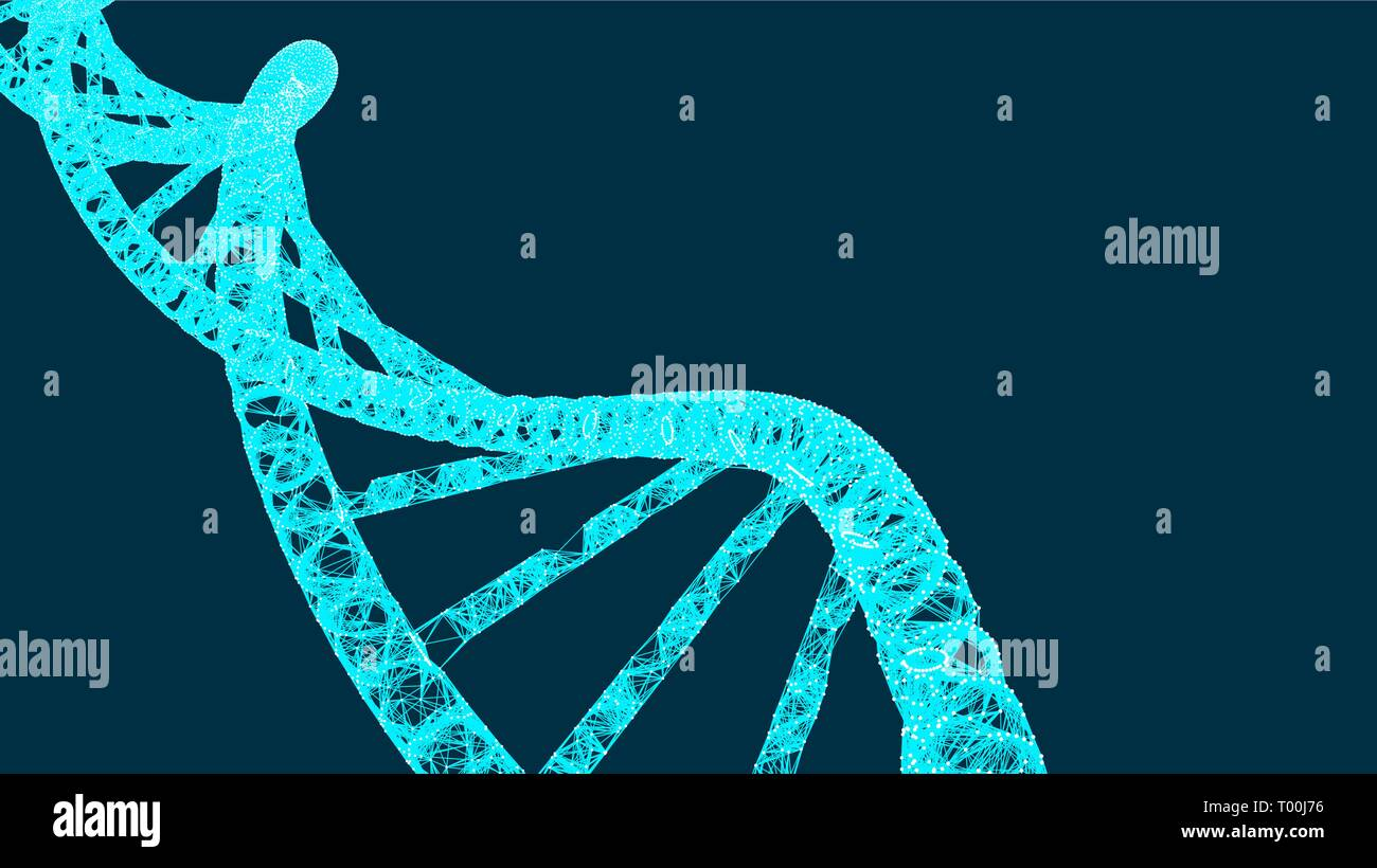 DNA molecule helix, vector illustration for medical and science creative, modern background - Stock Image