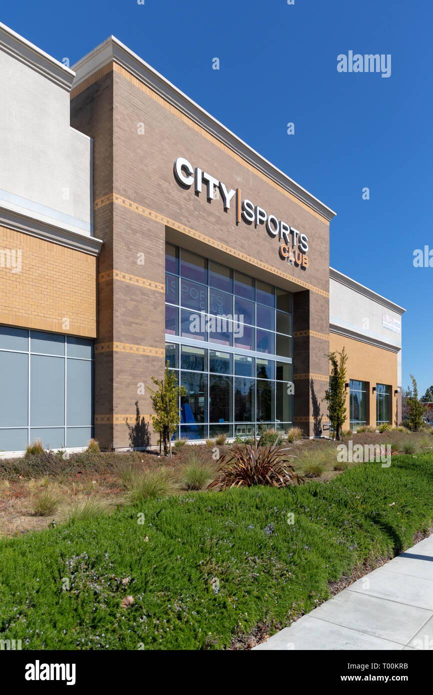 City Sports Club, East Arques Avenue, Sunnyvale, California, USA - Stock Image