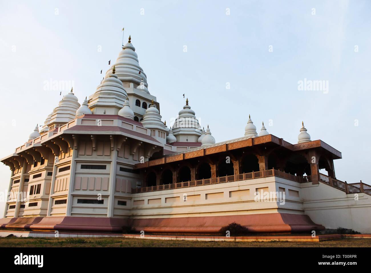 Gatha Mandir, abode of Sant Tukaram revered poet saint, Dehu, Maharashtra, India. - Stock Image