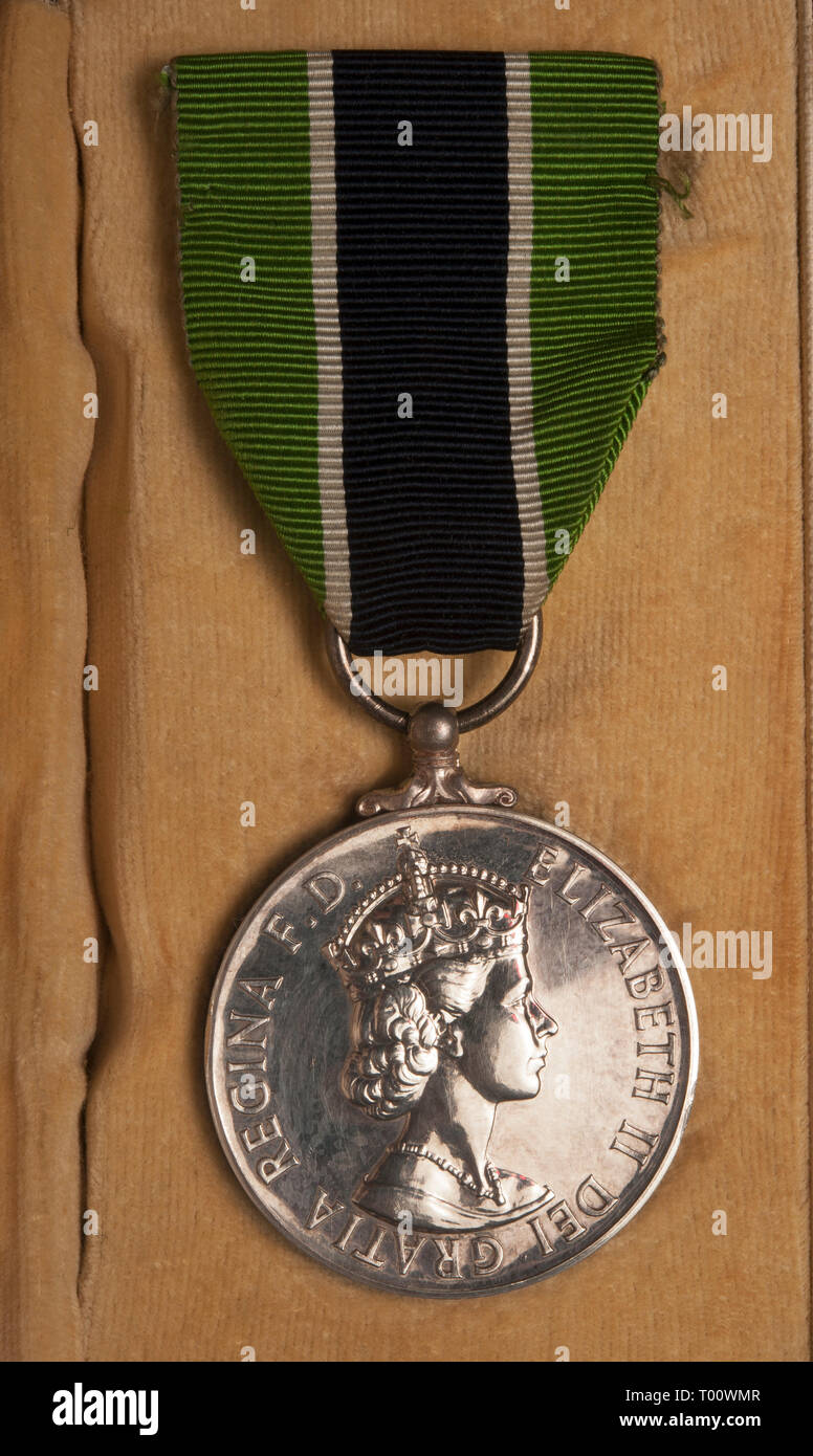 Royal Colonial Police medal - Stock Image