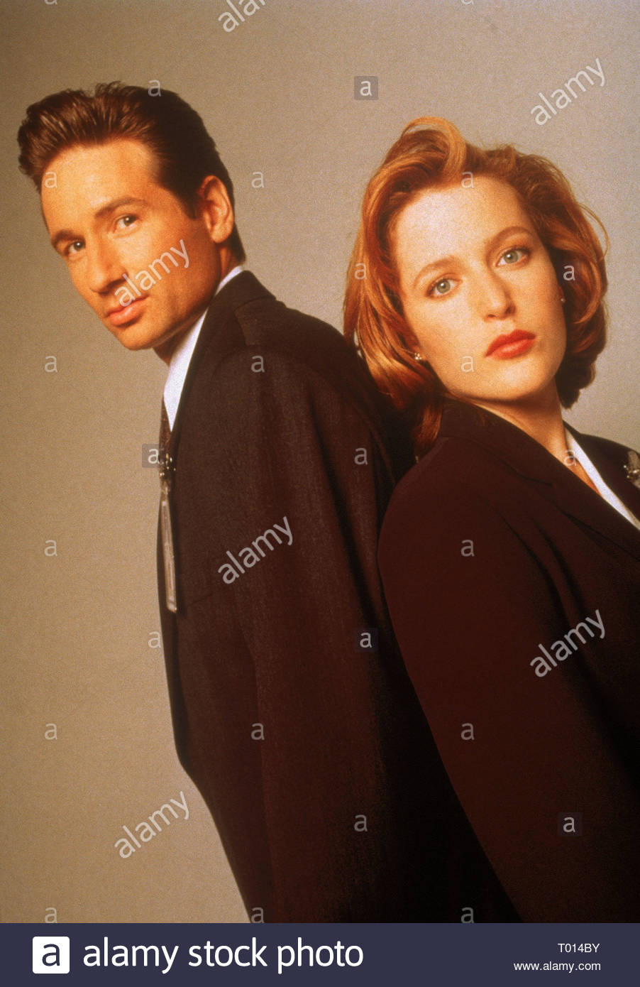 DAVID DUCHOVNY, GILLIAN ANDERSON, THE X FILES, 1993 - Stock Image