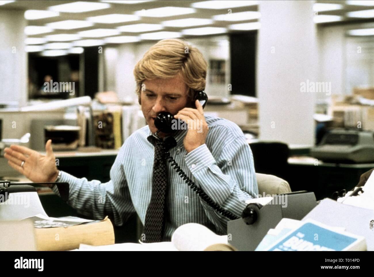 ROBERT REDFORD, ALL THE PRESIDENT'S MEN, 1976 - Stock Image