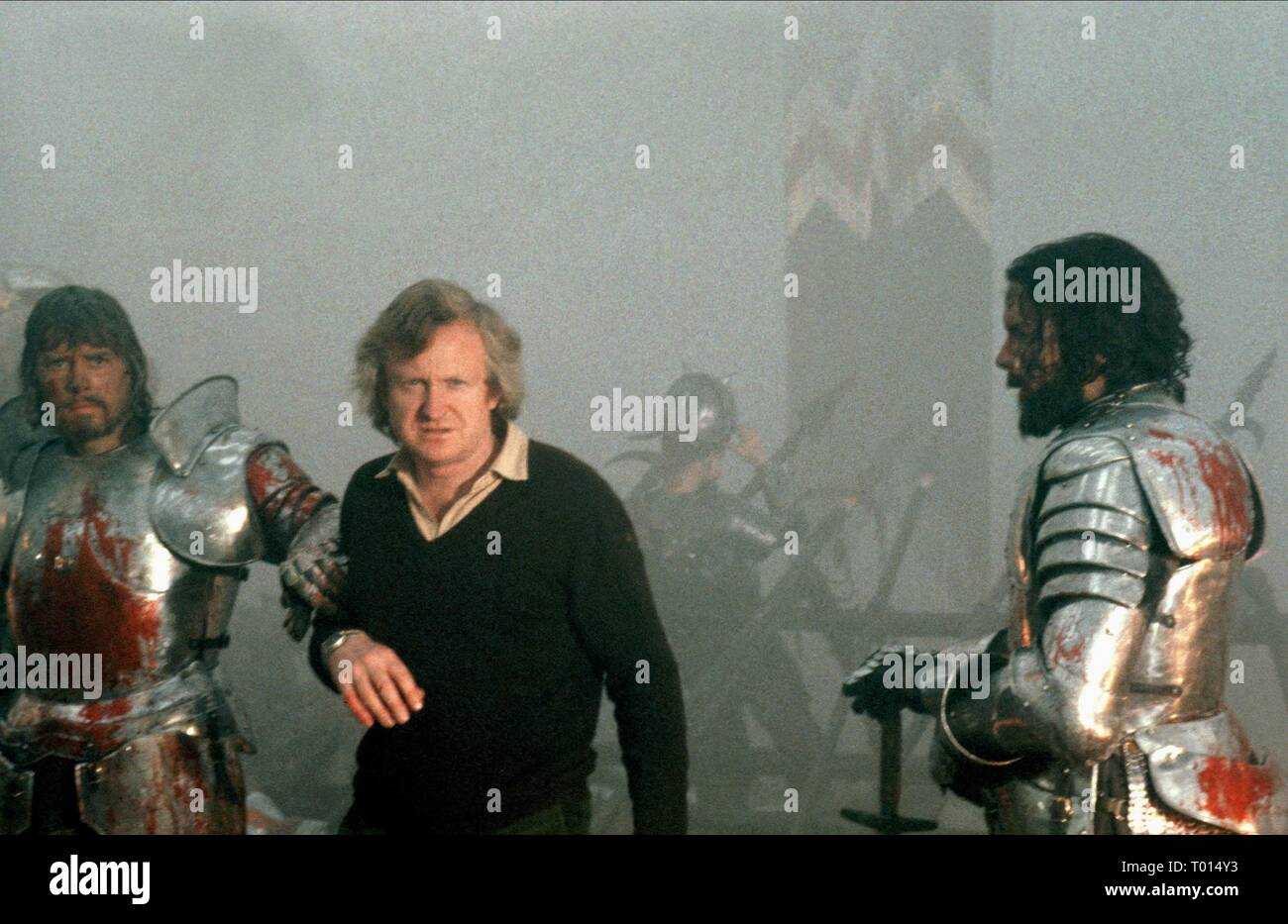 NIGEL TERRY, JOHN BOORMAN, PAUL GEOFFREY, EXCALIBUR, 1981 - Stock Image