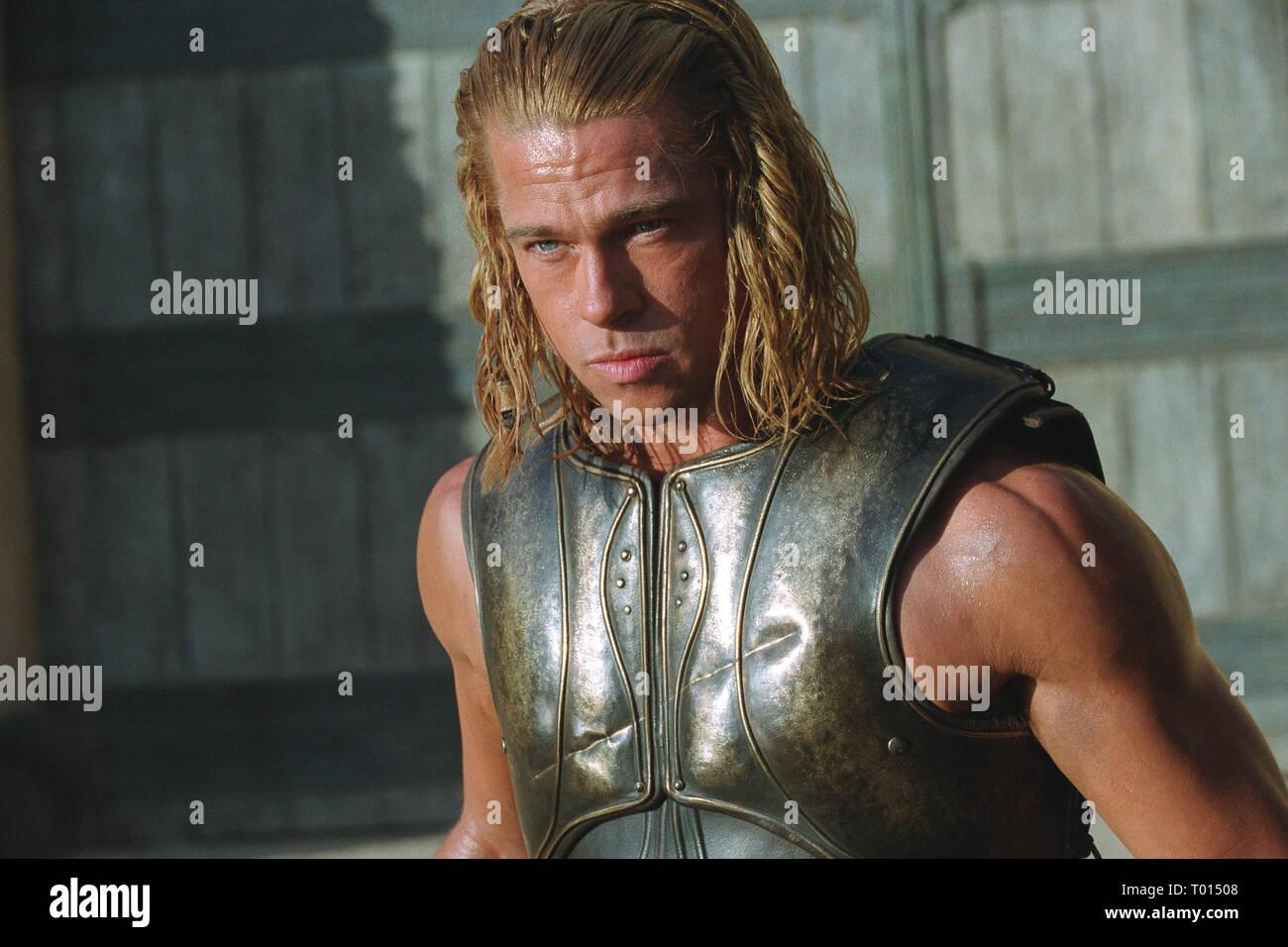 Brad Pitt Troy 2004 Stock Photo Alamy