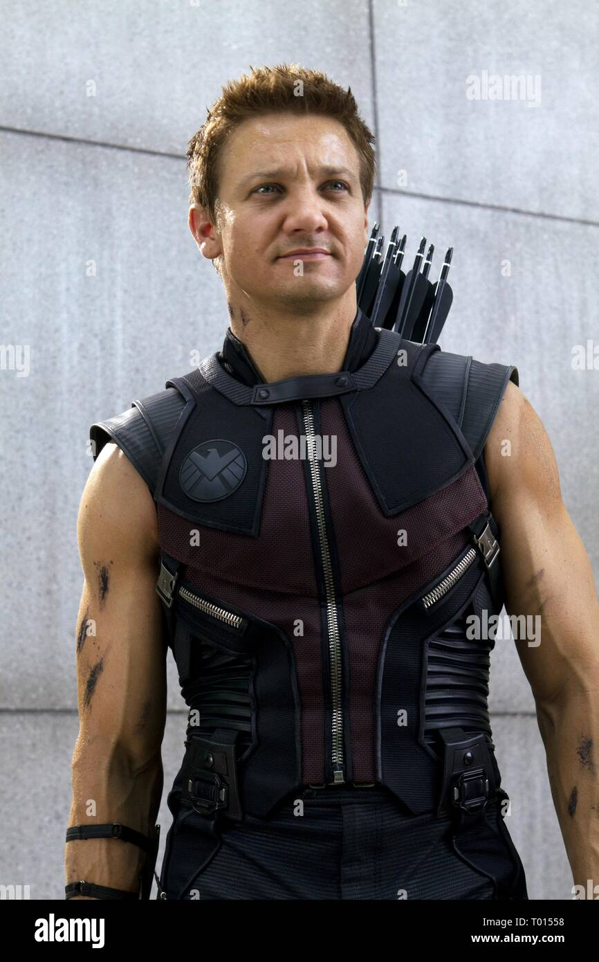 JEREMY RENNER, THE AVENGERS, 2012 Stock Photo