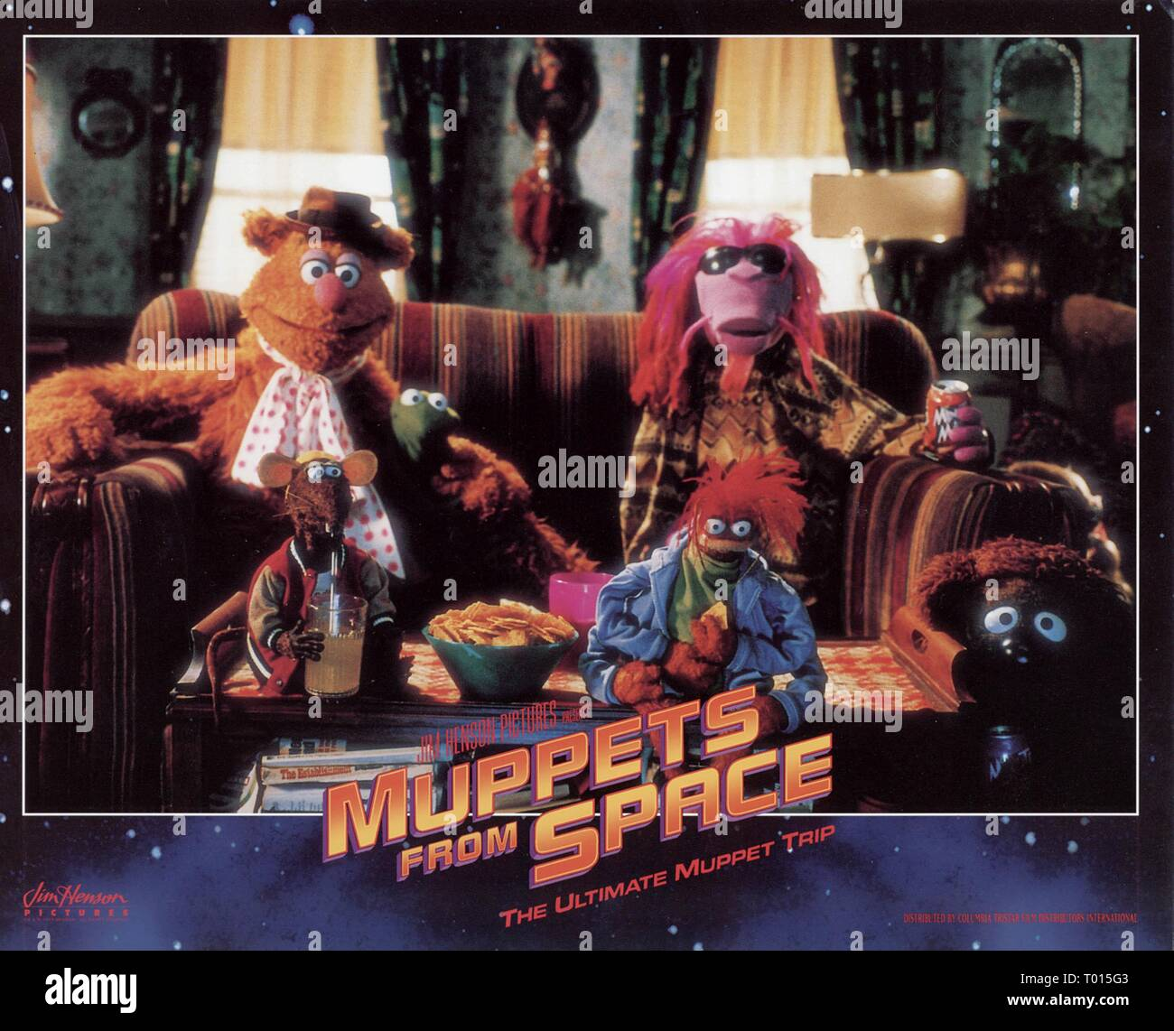 MUPPETS FROM SPACE, FOZZY BEAR, KERMIT THE DOG, ROBIN, CLIFFORD, PEPE , RIZZO, 1999 - Stock Image