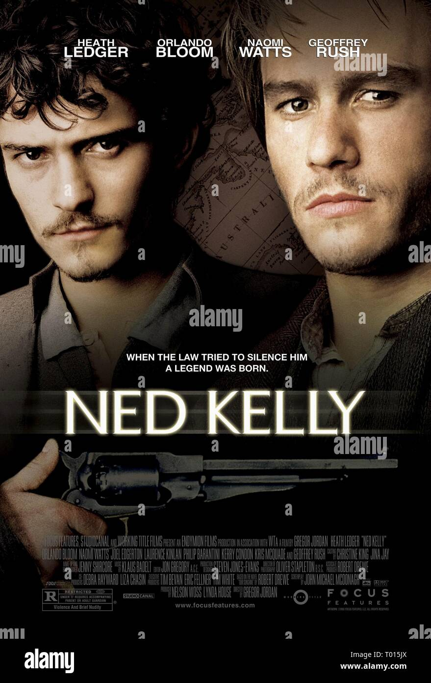 NED KELLY, FILM POSTER, 2003 - Stock Image