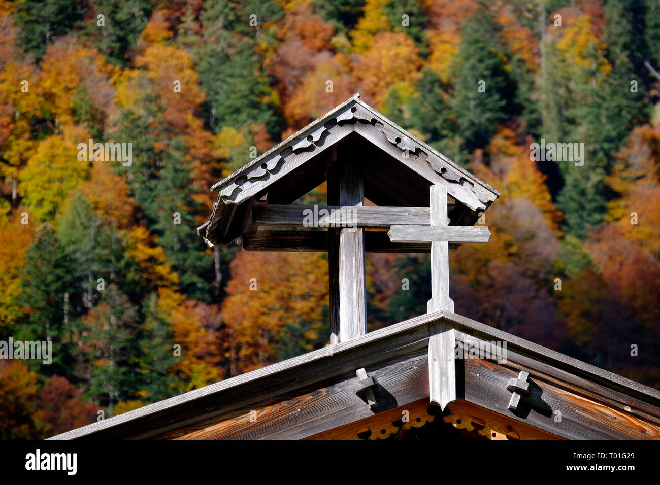 Old Chapel in the Austrian Alps. Eng Alm, Karwendel. - Stock Image