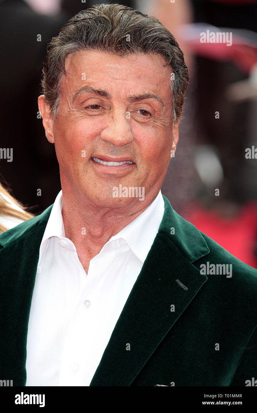 Aug 04, 2014 - London, England, UK - The Expendables 3 World Premiere, Odeon, Leicester Square Photo Shows: Sylvester Stallone Stock Photo