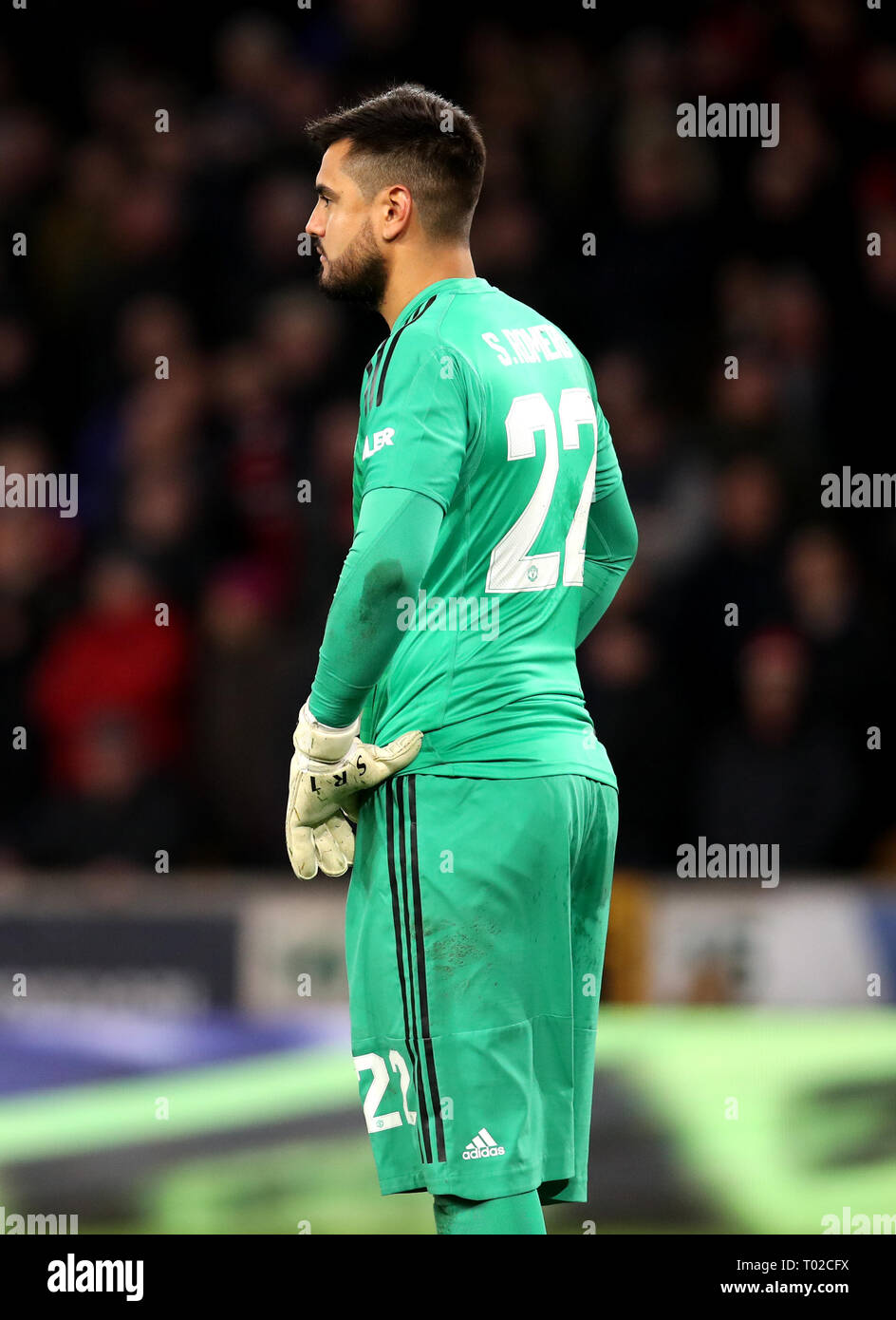 1c64c5fc964 Manchester United goalkeeper Sergio Romero appears dejected during the FA  Cup quarter final match at Molineux