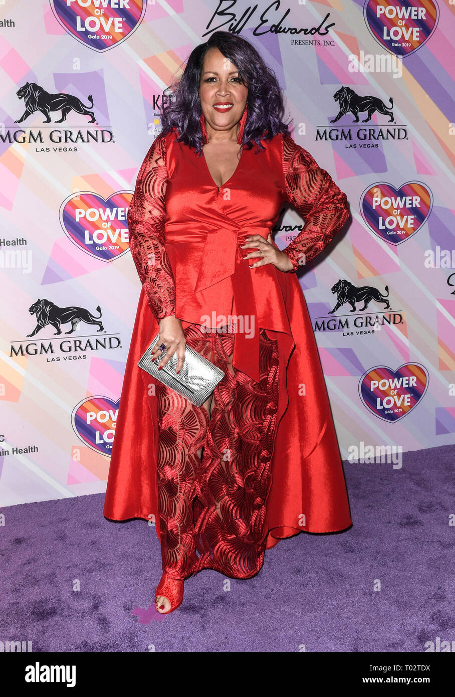 Las Vegas, NV, USA. 16th Mar, 2019. Angela Renee at Keep Memory Alive's 23rd Annual Power Of Love Gala at the MGM Grand Garden Arena in Las Vegas, Nevada on March 16, 2019. Credit: Damairs Carter/Media Punch/Alamy Live News - Stock Image