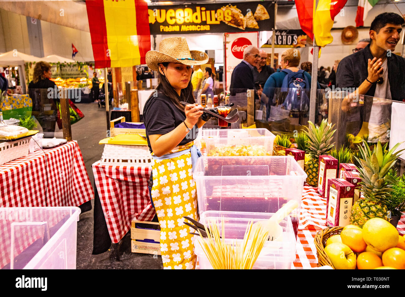 Spanish Festival - stand Sangria Credit: Realy Easy Star/Alamy Live
