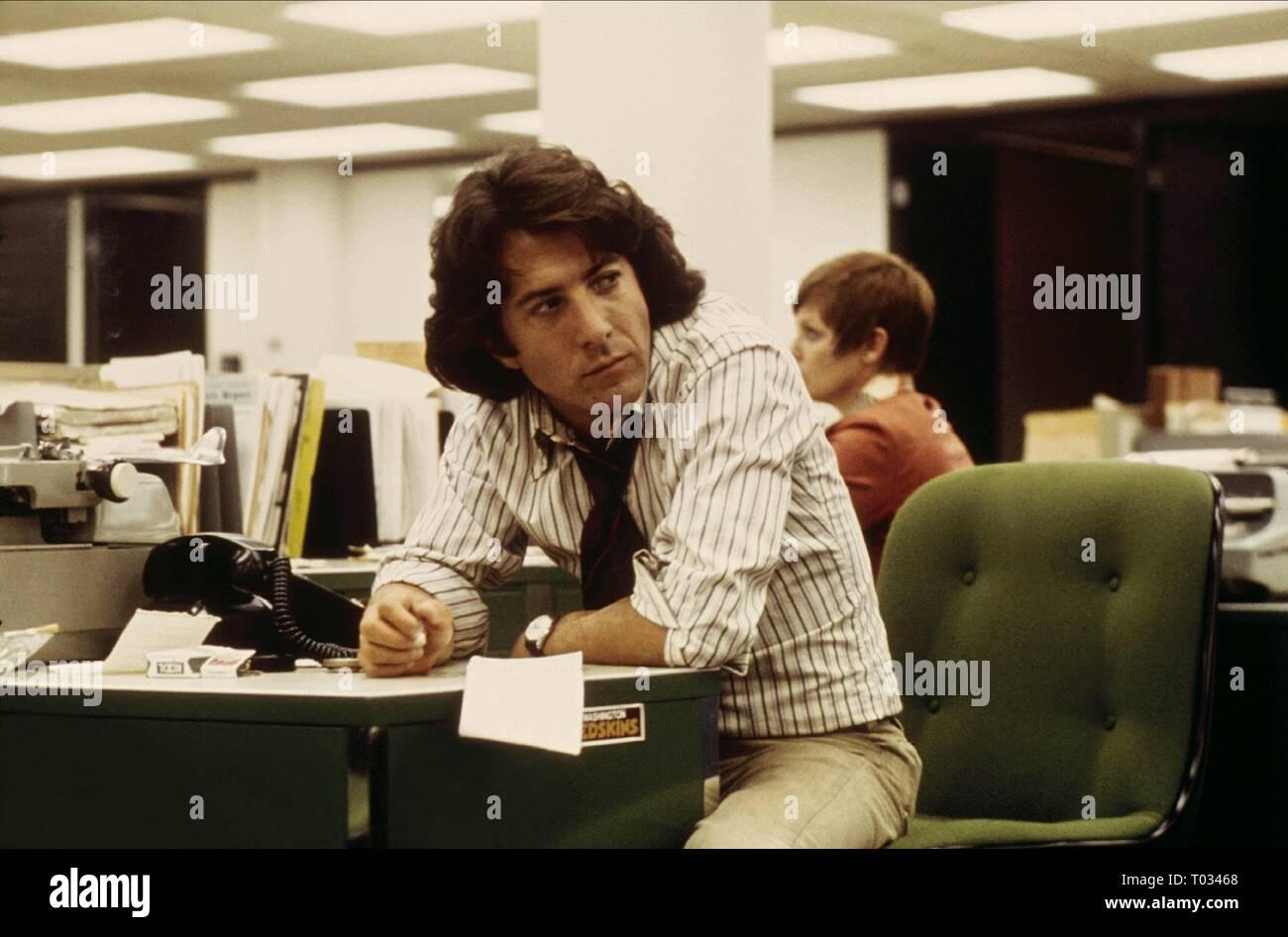 DUSTIN HOFFMAN, ALL THE PRESIDENT'S MEN, 1976 - Stock Image