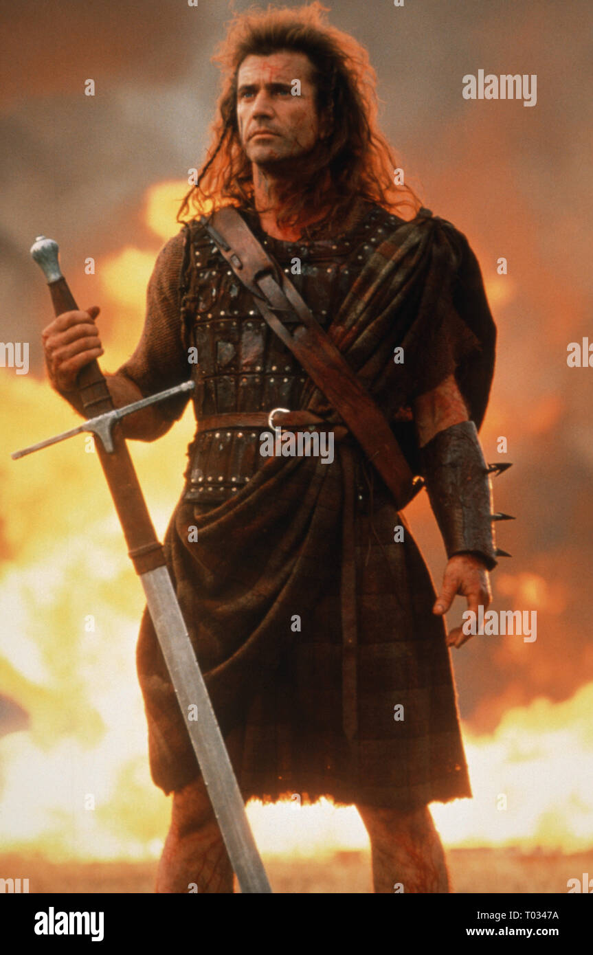 Mel Gibson Braveheart 1995 Stock Photo Alamy