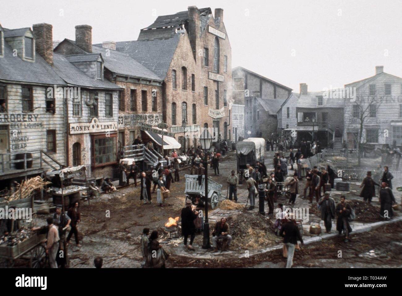 TOWN SCENE, GANGS OF NEW YORK, 2002 - Stock Image