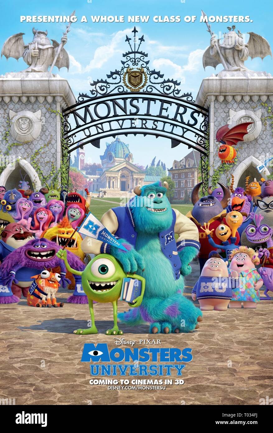 Mike Wazowski Sulley Poster Monsters University 2013 Stock Photo Alamy