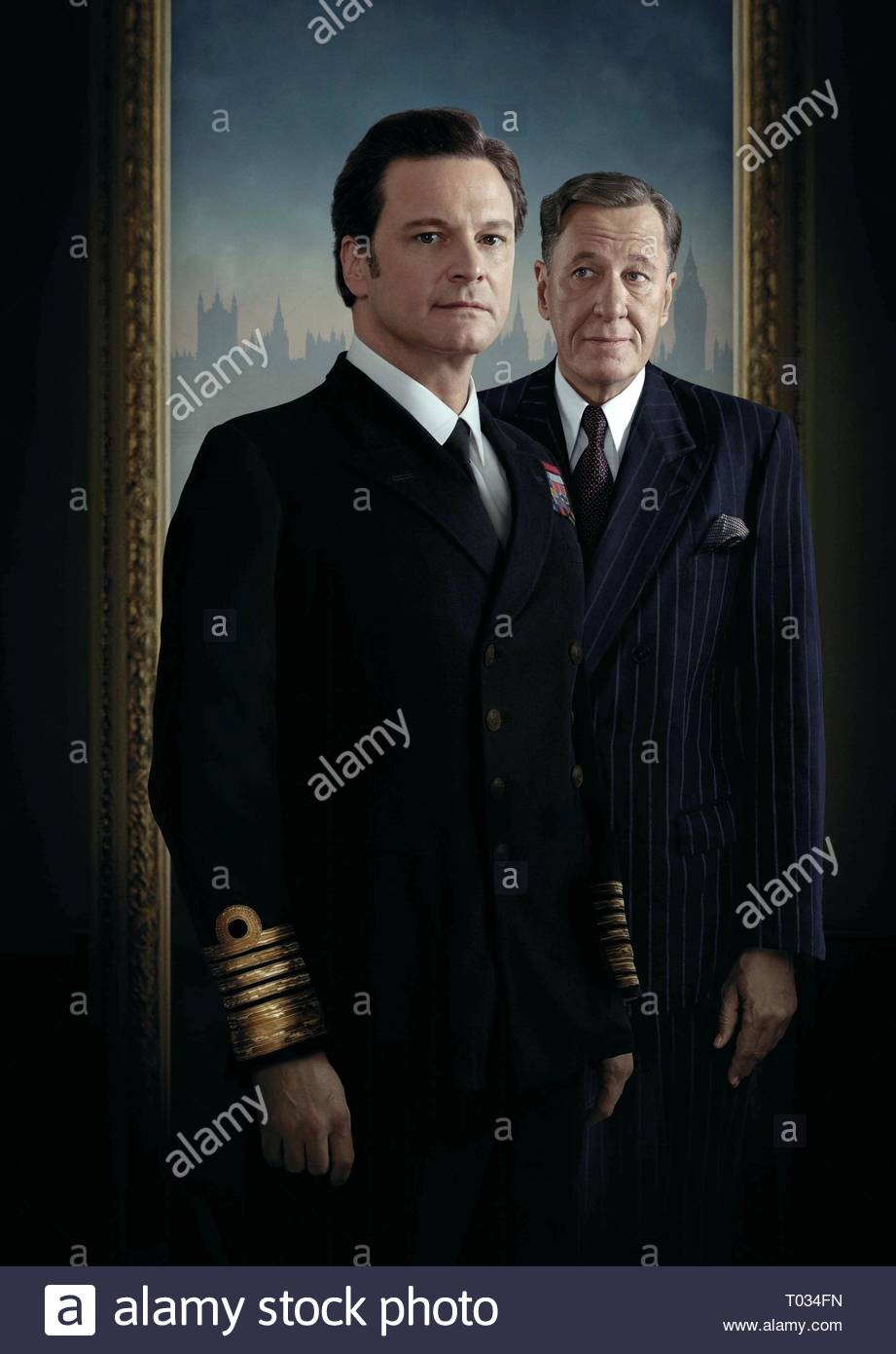 COLIN FIRTH, GEOFFREY RUSH, THE KING'S SPEECH, 2010 - Stock Image