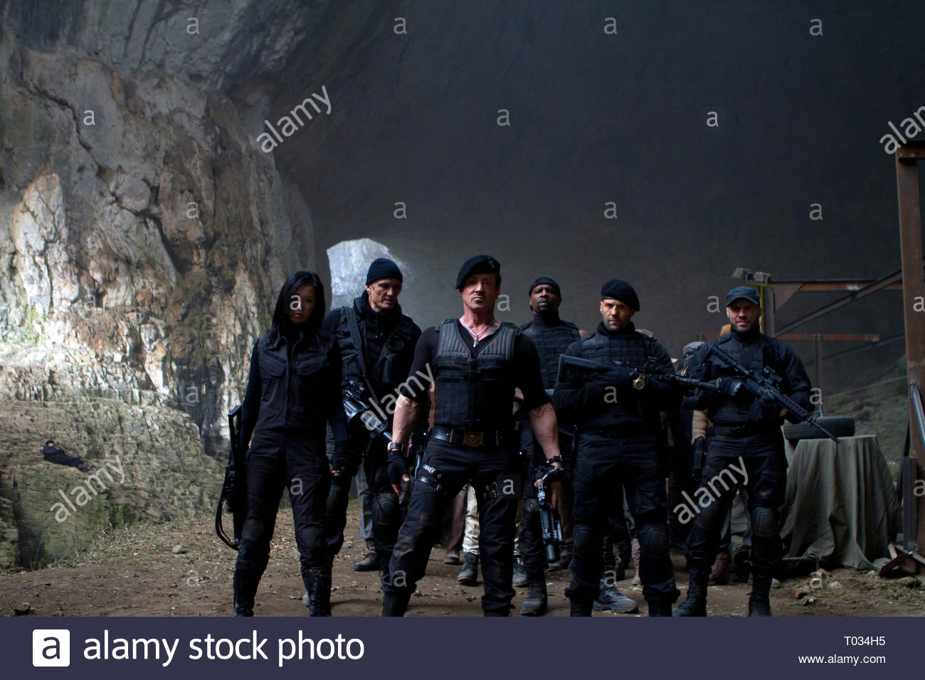 THE EXPENDABLES 2, NAN YU, DOLPH LUNDGREN, SYLVESTER STALLONE, TERRY CREWS, JASON STATHAM , RANDY COUTURE, 2012 - Stock Image