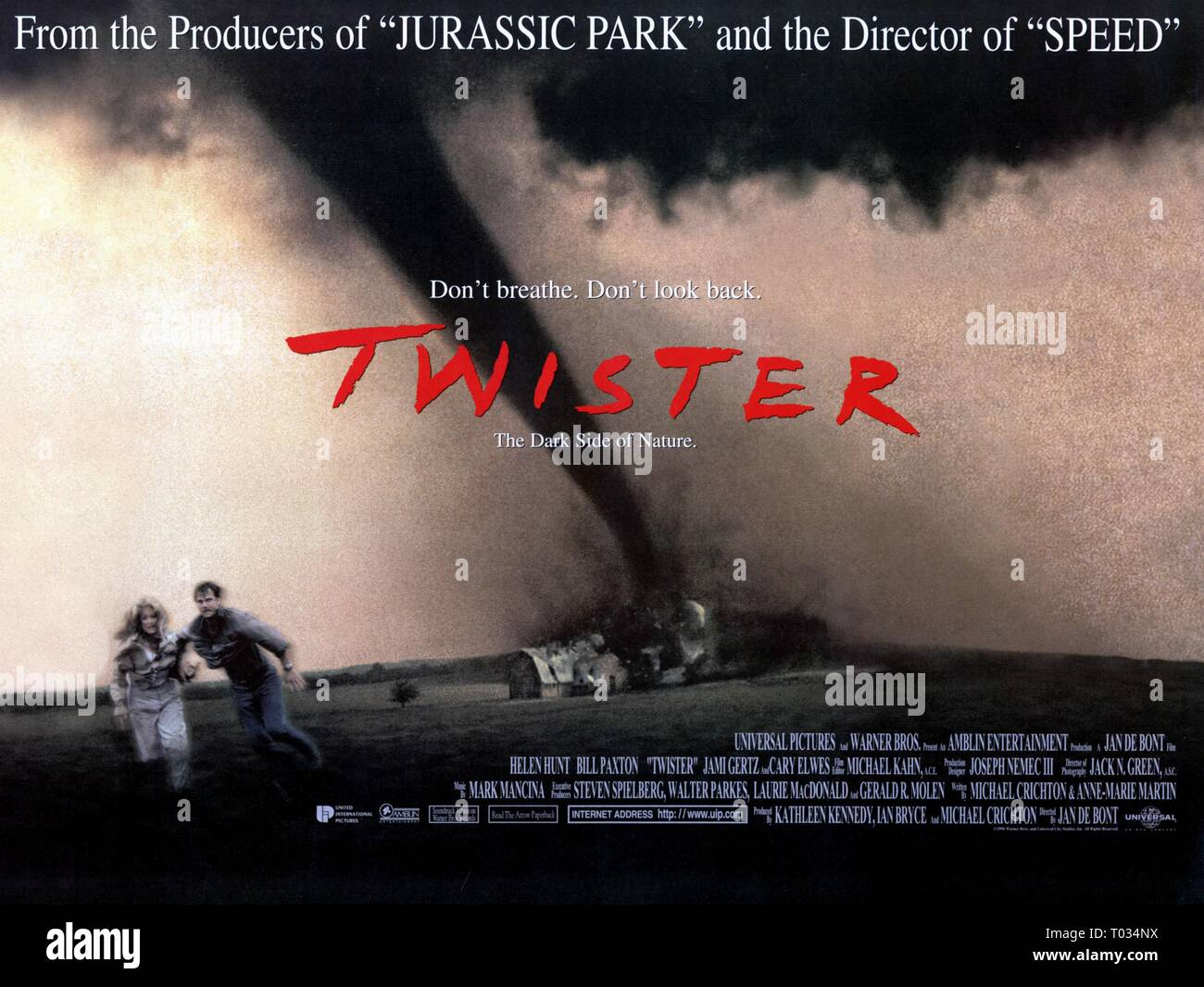 Helen Hunt 6 Bill Paxton Movie Poster Twister 1996 Stock Photo Alamy