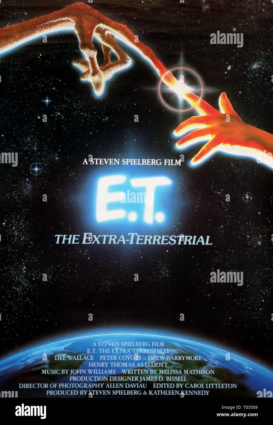 Film Poster E T The Extra Terrestrial 1982 Stock Photo Alamy