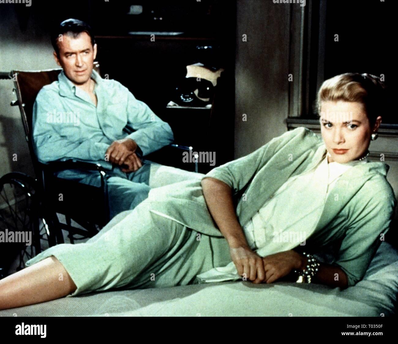 JAMES STEWART, GRACE KELLY, REAR WINDOW, 1954 - Stock Image