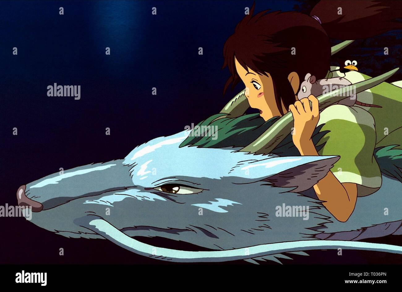 Haku Chihiro Ogino Spirited Away 2001 Stock Photo Alamy