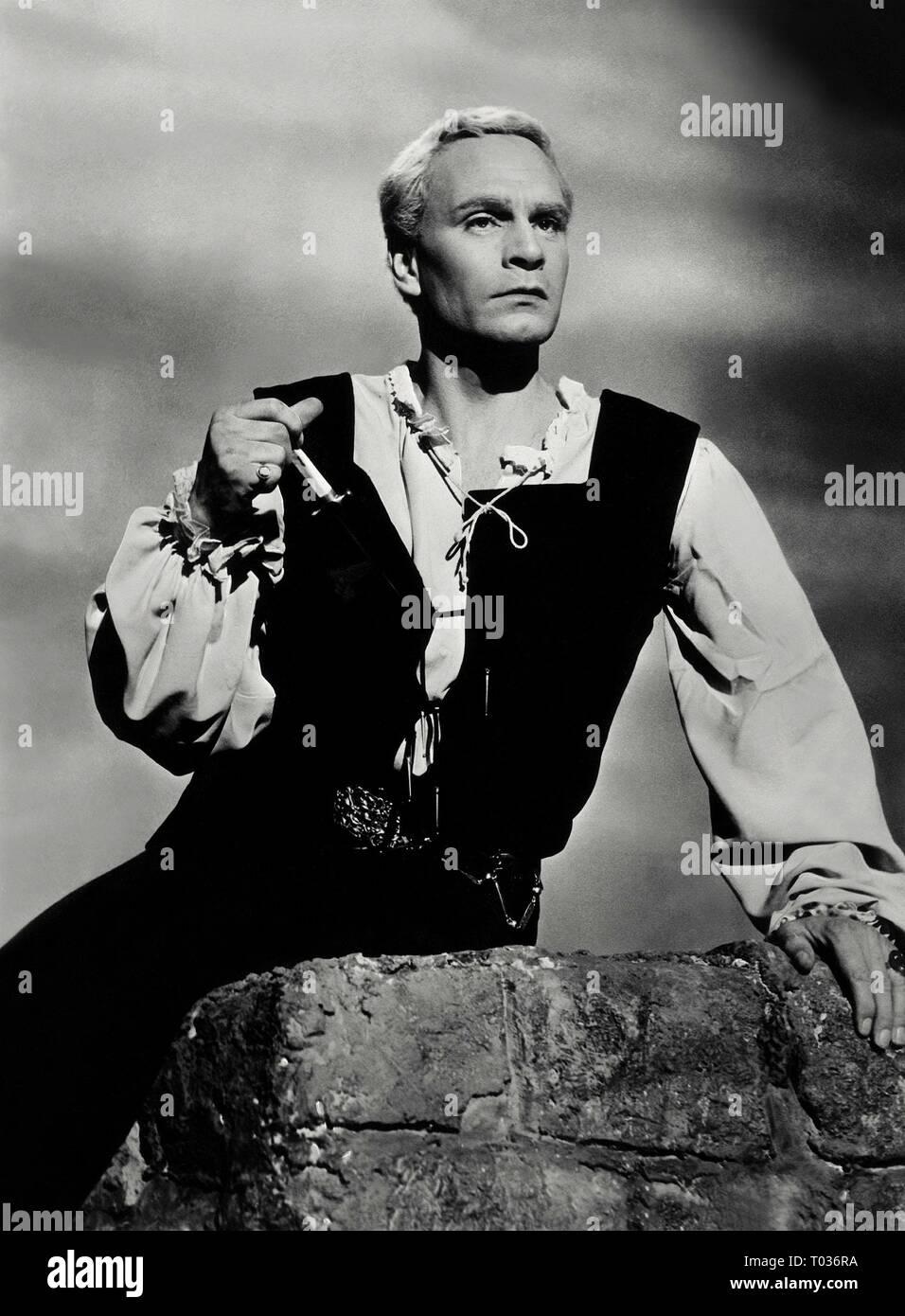 LAURENCE OLIVIER, HAMLET, 1948 - Stock Image