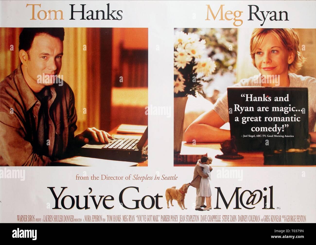 Tom Hanks Meg Ryan Poster You Ve Got Mail 1998 Stock Photo Alamy