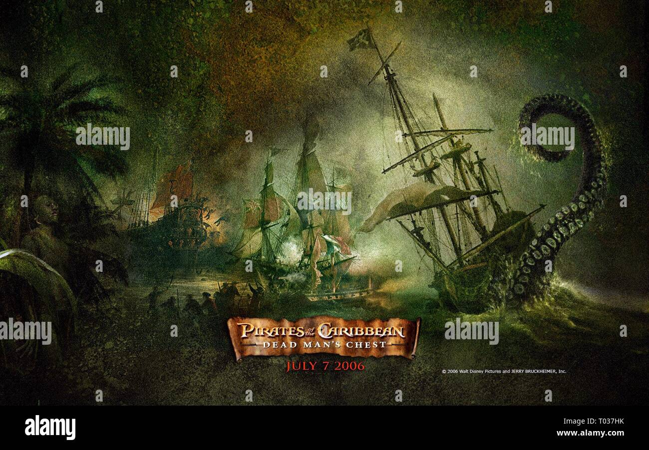 Movie Poster Pirates Of The Caribbean Dead Man S Chest 2006 Stock Photo Alamy