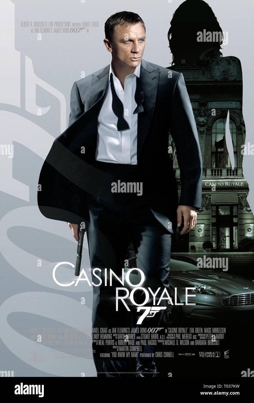 DANIEL CRAIG POSTER,  CASINO ROYALE, 2006 - Stock Image