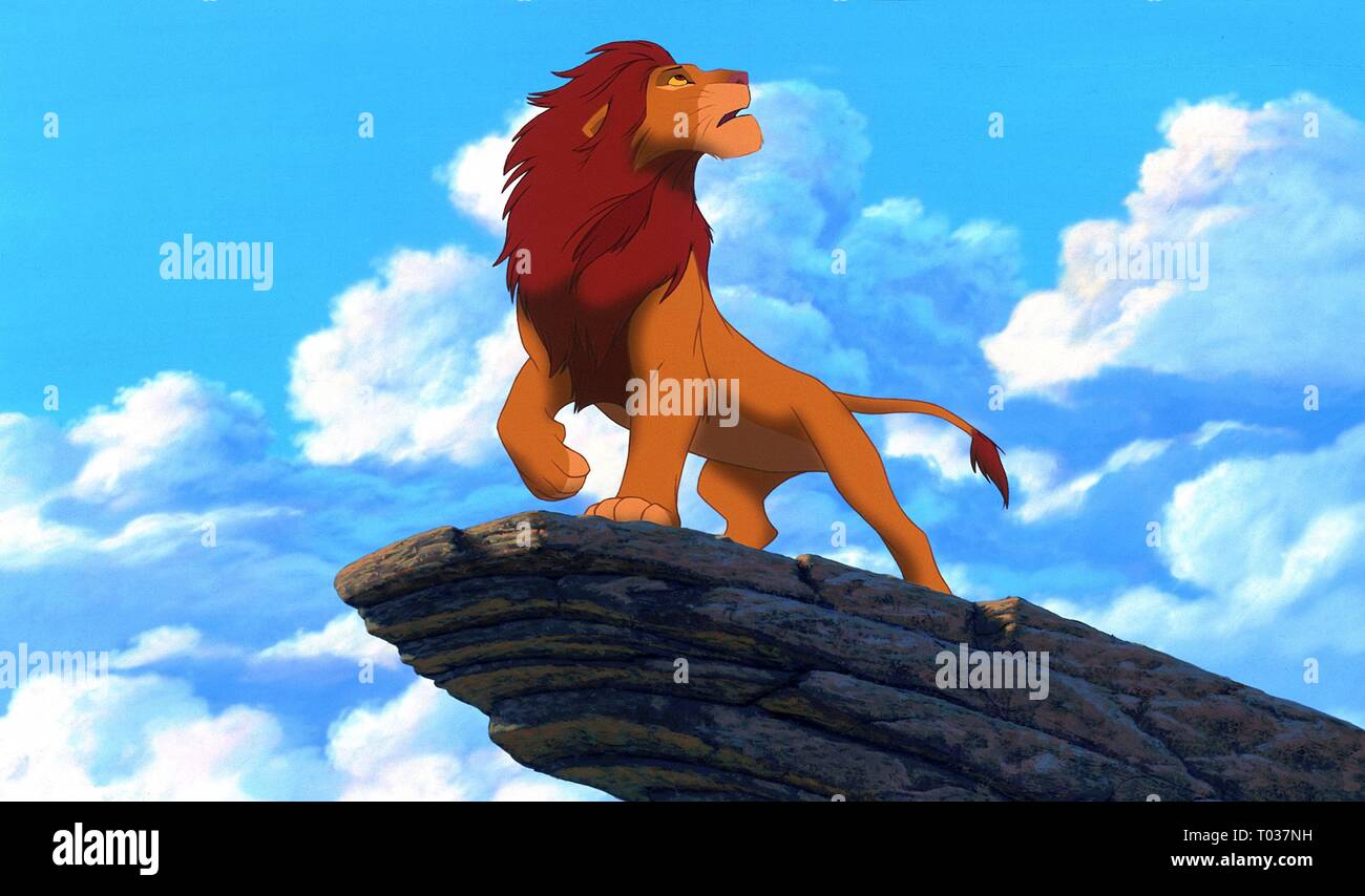 Simba On Pride Rock The Lion King 1994 Stock Photo