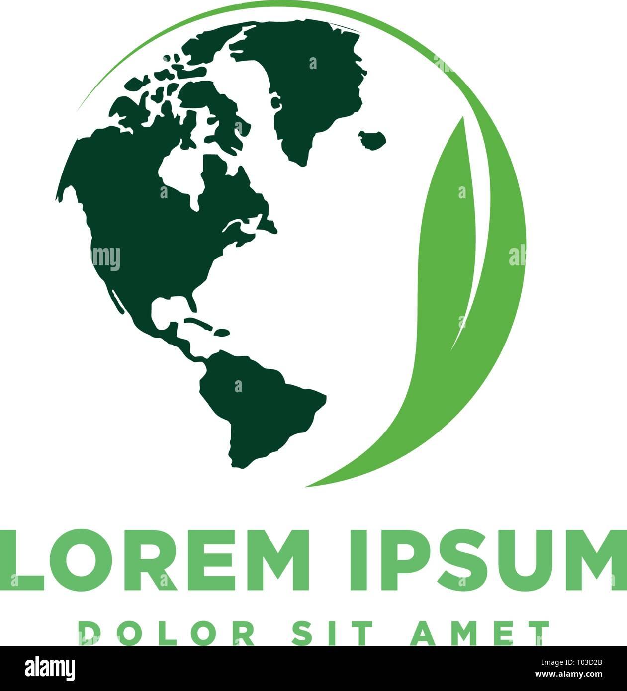 globe world map splatter logo template vector illustration