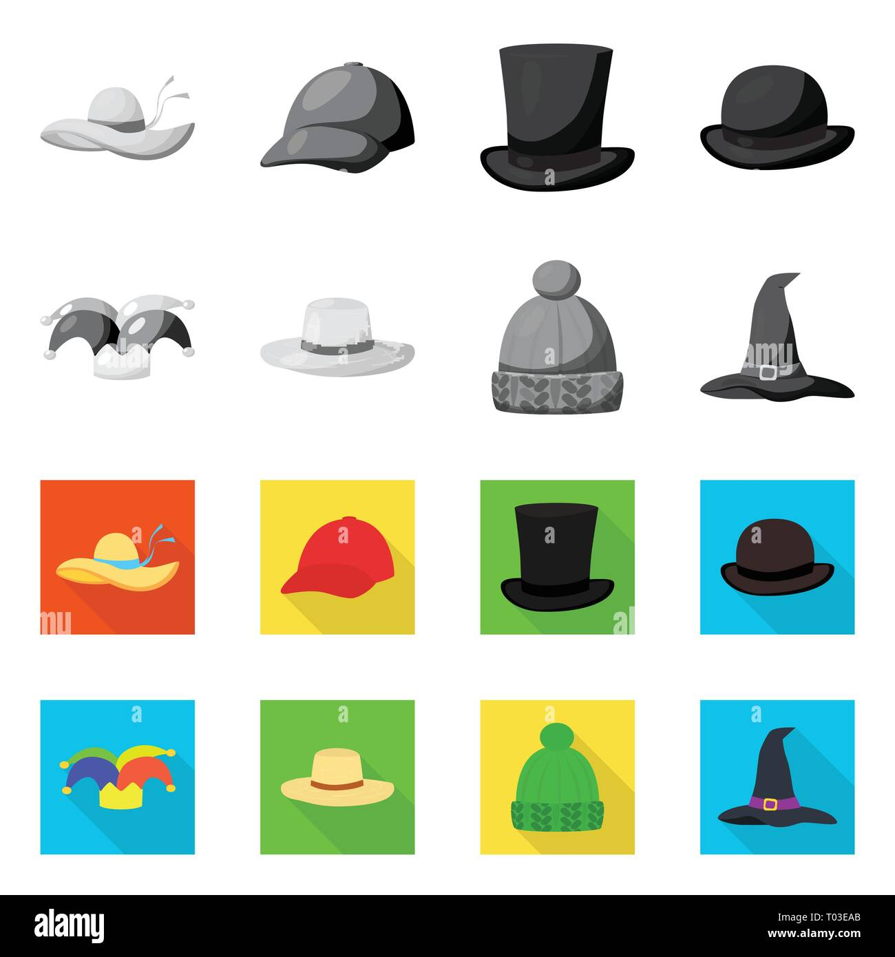 b0abd2d52c23 Isolated object of clothing and cap icon. Collection of clothing and beret  stock symbol for